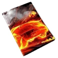 Обложка на паспорт Огненная машина