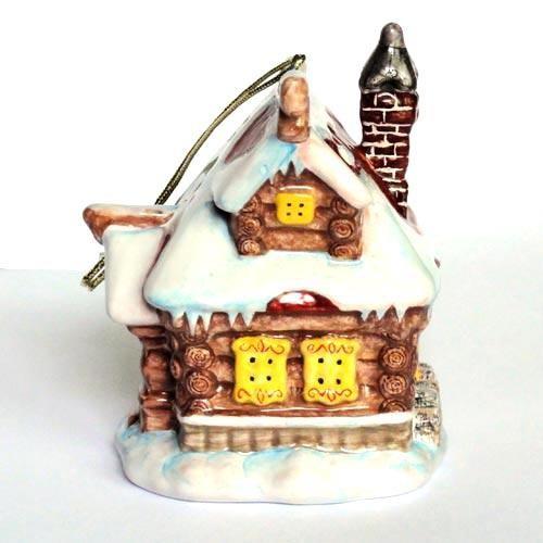 Ёлочная игрушка Изба (коллекция Масленица)