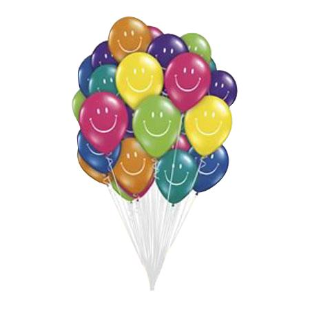 Связка из шаров с рисунком «Улыбки»