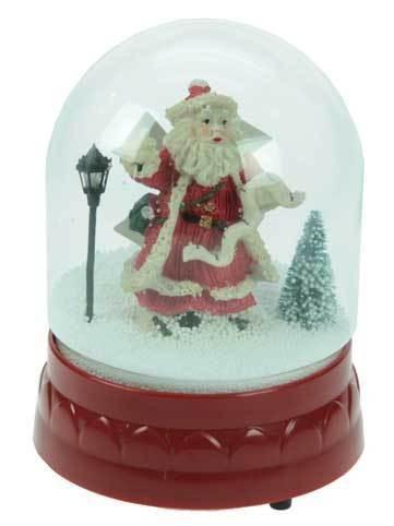 Стеклянный шар со снегом и дедом Морозом, музыкальный