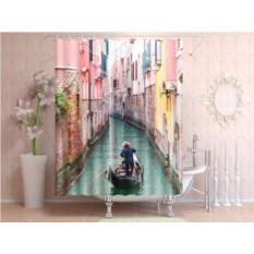 Фотоштора для ванной Венеция