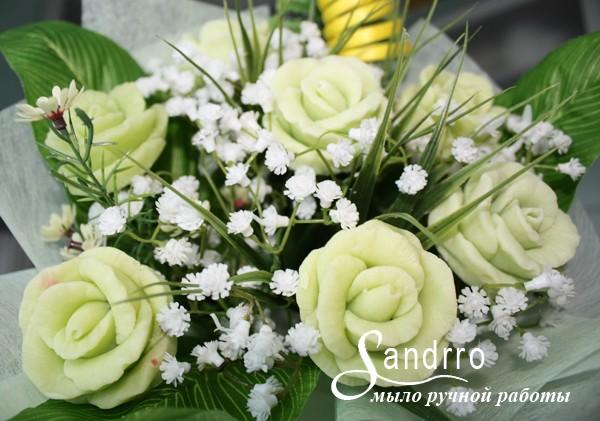 Букет цветов из мыла «Мятные розы»