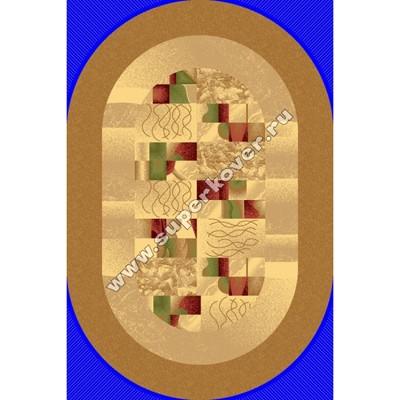 Люберецкий ковер Супер акварель 98510-65-беж-овал