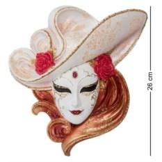 Венецианская маска Розы (белая шляпа)
