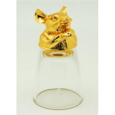 Золотая рюмка перевертыш Мышь