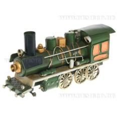 Модель Поезд зеленого цвета (13 см)