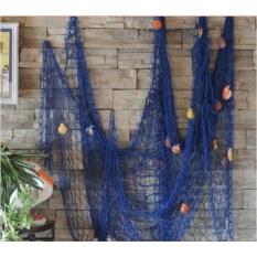 Декоративная морская сеть (2х1,5 м, цвет: синий)