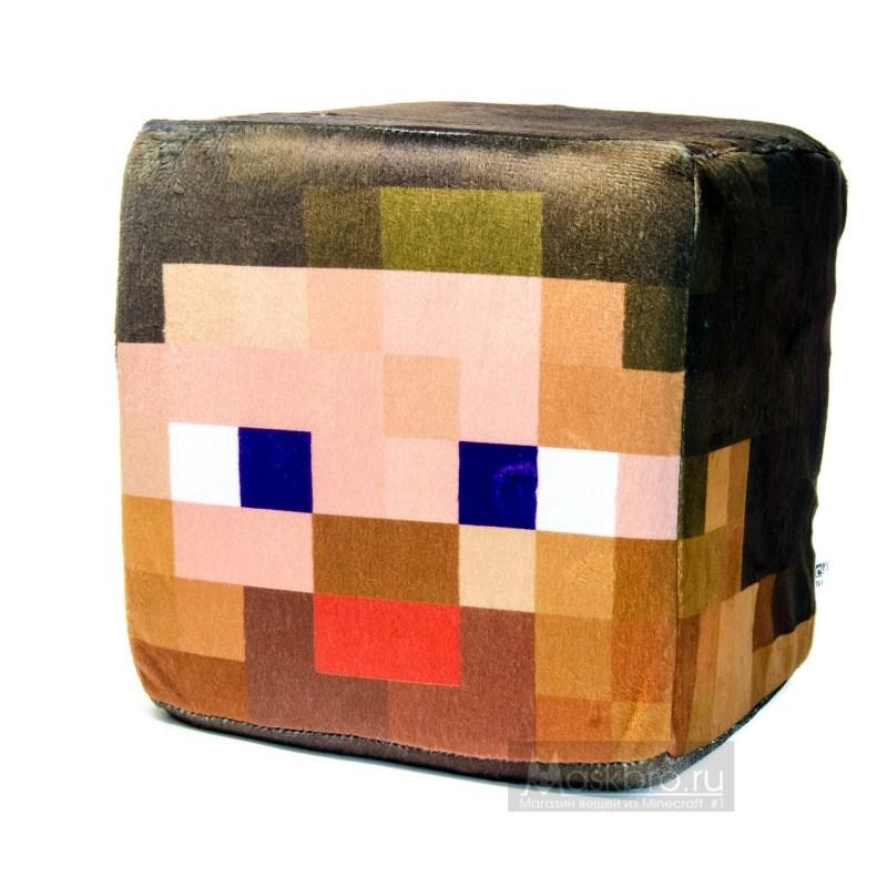 Плюшевый куб-подушка Стив