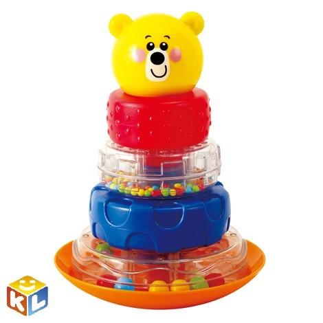 Развивающая игрушка Playgo Пирамида - неваляшка Мишка