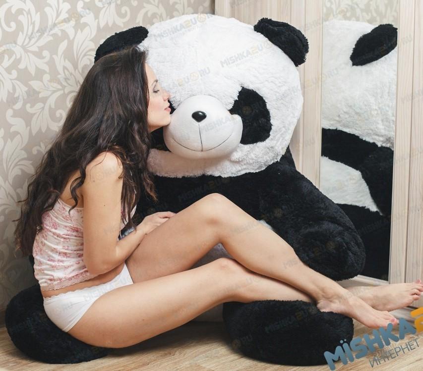 Плюшевая панда Снежана, 125 см
