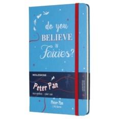 Голубая записная книжка в линейку Moleskine Peter Pan