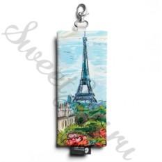 Ключница из натуральной кожи Eiffel Tower