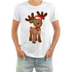 Мужская новогодняя футболка Оленёнок