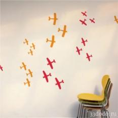 Интерьерная наклейка Воздушный бой - противостояние