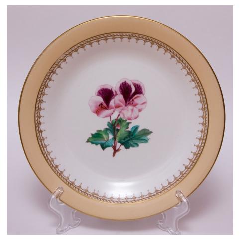 Тарелка антикварная «Герань»