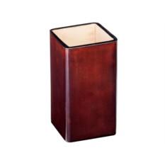 Квадратный коричневый стакан для ручек Visconti