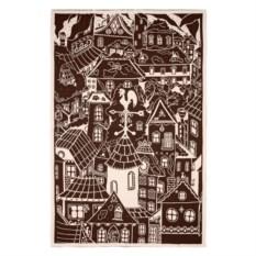 Плед Город (цвет: бежево-коричневый)