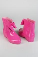 Полусапоги резиновые женские розовые Глейзи