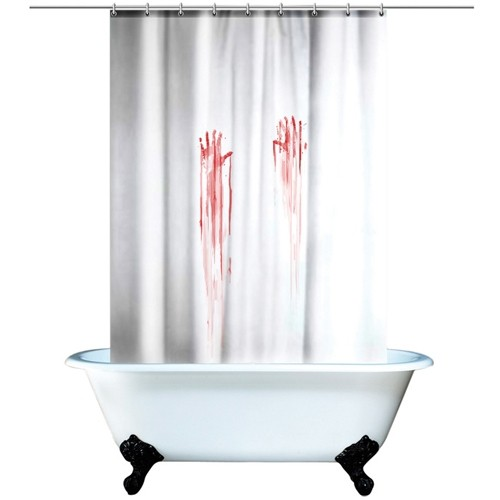Занавеска для ванной Кровавый след