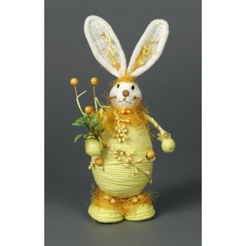 Заяц с веточкой желтый