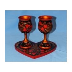Подарочный набор для шампанского  Свадьба в малиновке