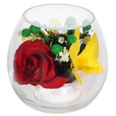 Композиция из розы и орхидеи