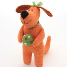 Мягкая игрушка Рыжая собачка. Пойдем играть»