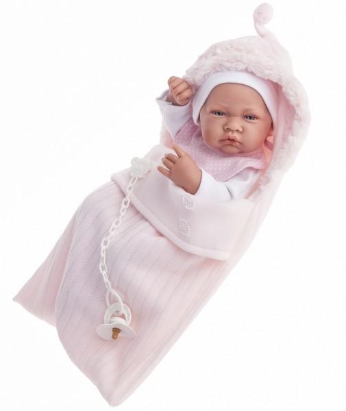 Кукла-младенец Сильвия в розовом
