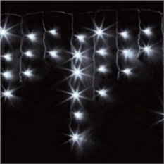 Светодиодная гирлянда-бахрома белого цвета