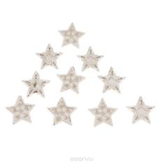 Пуговицы декоративные Dress It Up Звезда серебряная, 10 шт