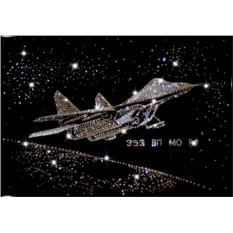 Картина с кристаллами Сваровски Истребитель СУ-27
