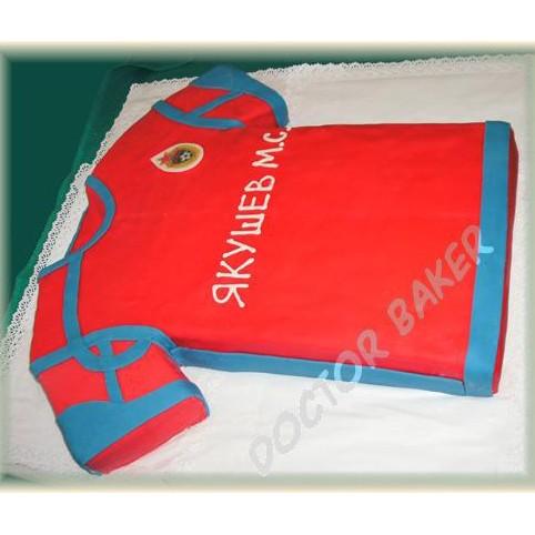 Торт «Футболка игрока (или болельщика)»