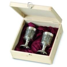 Набор бокалов для вина из олова в деревянном кейсе Durer