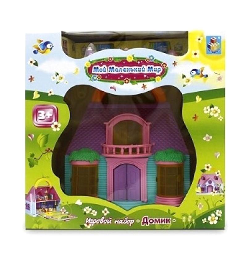 Домик-чемоданчик для кукол 1Toy Мой маленький мир