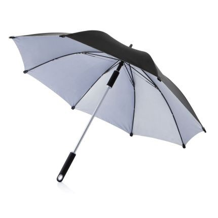 Чёрный зонт-трость Hurricane 23