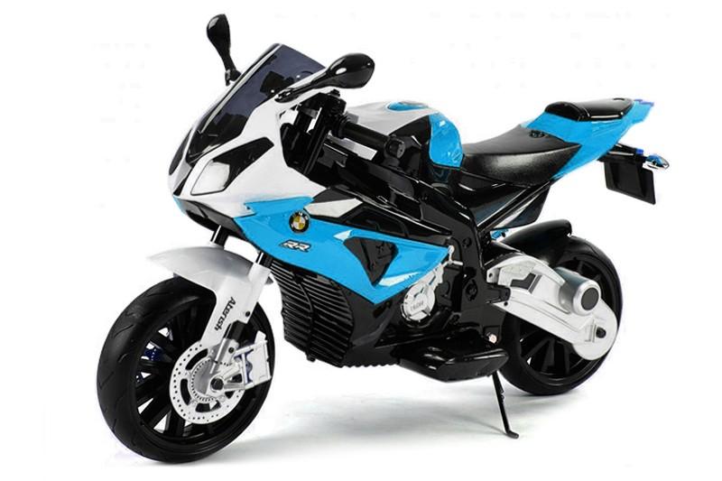 Синий детский электрический мотоцикл BMW JT528