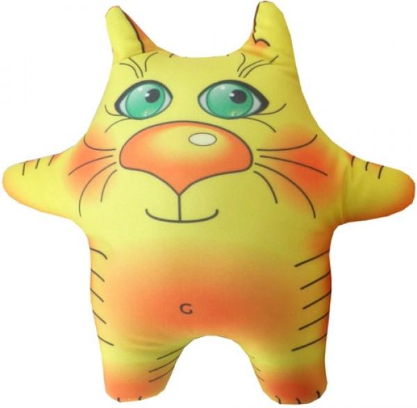 Игрушка антистресс Желтый кот маленький