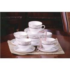 Чайные пары Людовик на 6 персон и 12 предметов