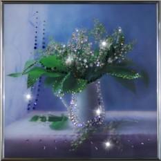 Картина с кристаллами Swarowski Ландыши