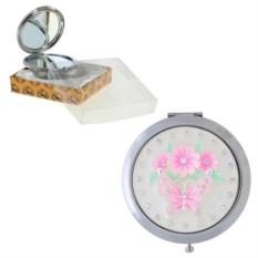 Карманное зеркало Бабочка со стразами