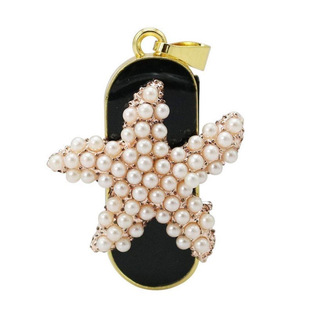 Флешка-брелок Морская звезда из жемчужин