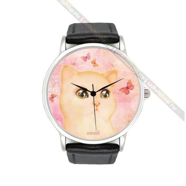 Научные часы Miusli Cat and butterfly