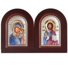 Венчальная парная икона Казанская Божья Мать и Спаситель