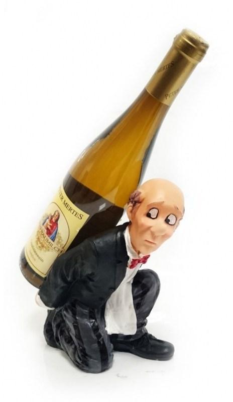 Подставка для бутылки, лысый официант