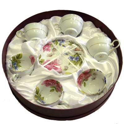 Подарочный чайный набор «Дикая роза» на 6 персон