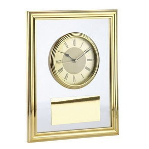 Часы настенные, золотистые