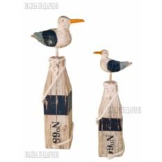 Синие декоративные чайки (2 штуки)