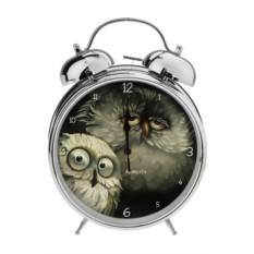 Настольные часы с будильником Сонные совушки
