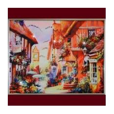 Картина с кристаллами Swarowski Город