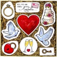 Большой набор печенья С днём свадьбы!